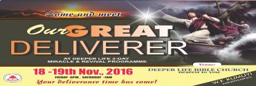 November - Our Great Deliverer